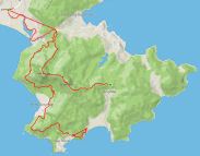 Here's the route I roughly took, complete with some free GPS errors!