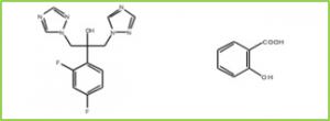 Figure 5: 1:1 cocrystal of fluconazole with salicylic acid
