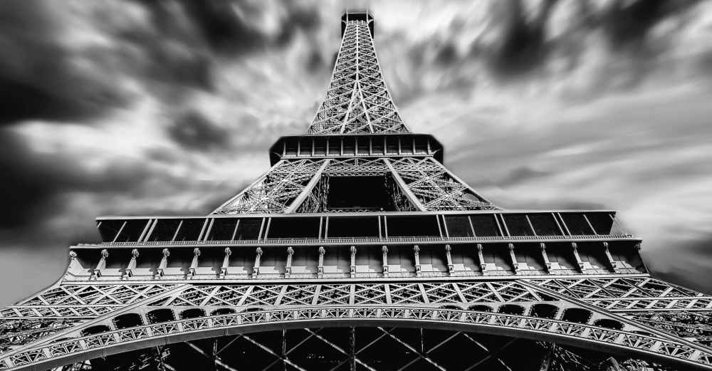 architecture black and white eiffel tower landmark