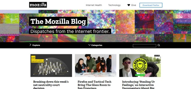 the mozilla blog- what is wordpress