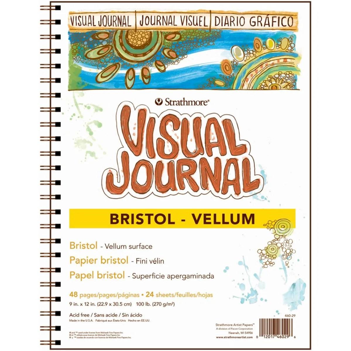 Strathmore 300 Bristol Vellum Visual Journal 9x12