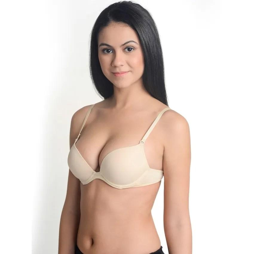 Buy La Zoya Skin Color Push Up Bra Online At Low Price