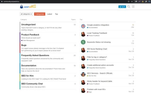 Community Forum SERPwatch