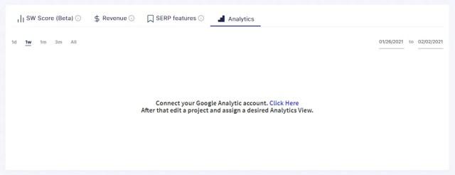 SERPwatch Google Analytics Integration