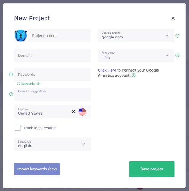 SERPwatch Review add Multiple Projects