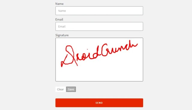 Signature field for Elementor Form