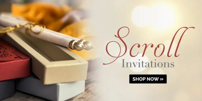 Indian Wedding Cards Scroll Invitations Theme