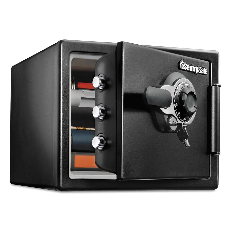 Fire Safe W Tubular Key Combination Access 0 8 Ft3 16 3 X 19 3 X 13 7 Black