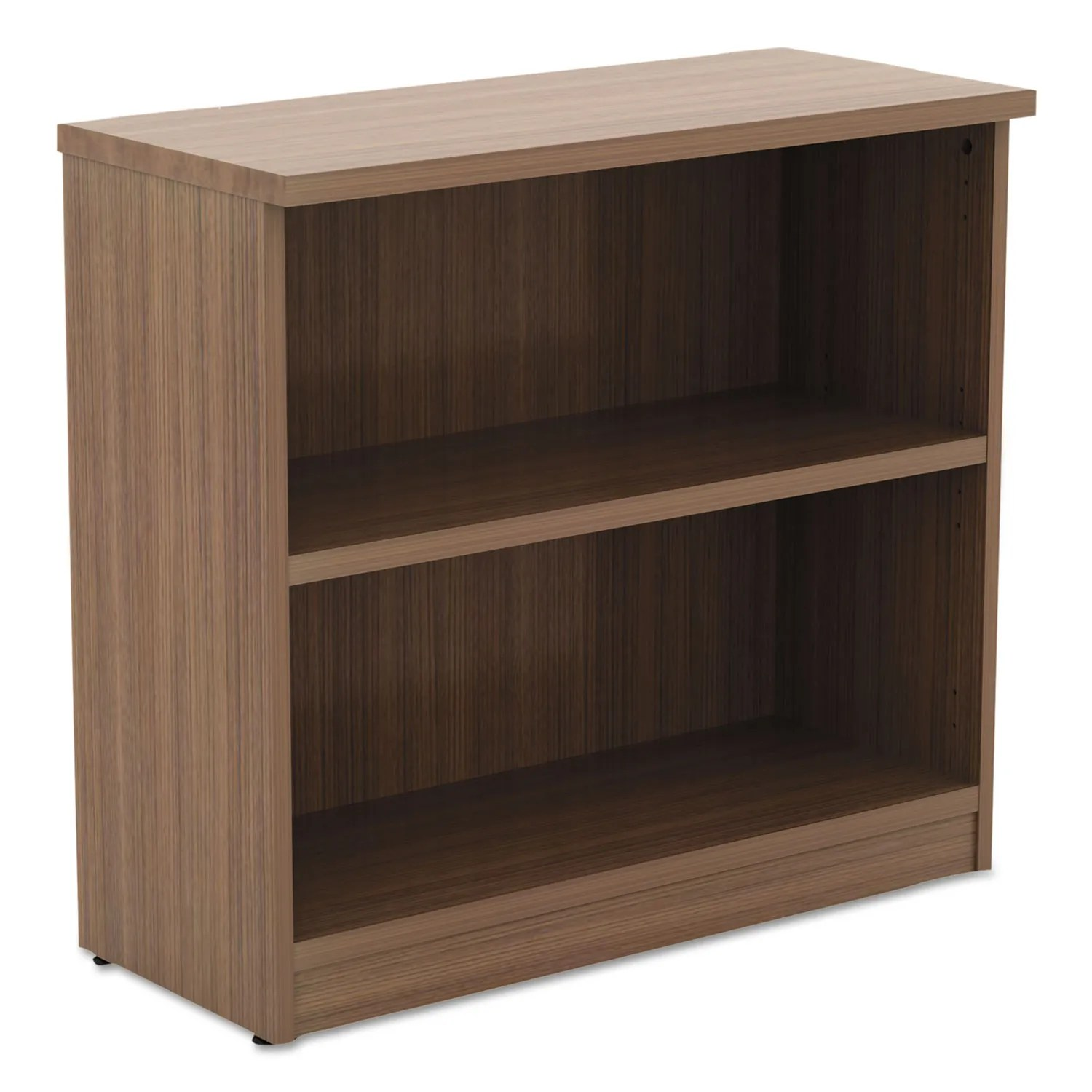 Alera Valencia Series Bookcase Two Shelf 31 3 4w X 14d X 29 1 2h Modern Walnut