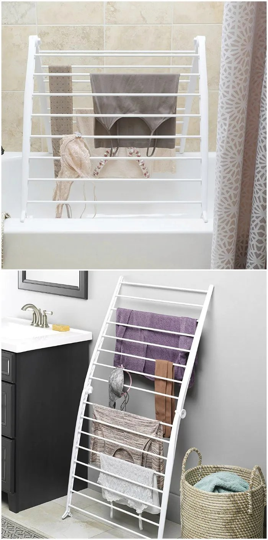 door clothes drying rack compact design