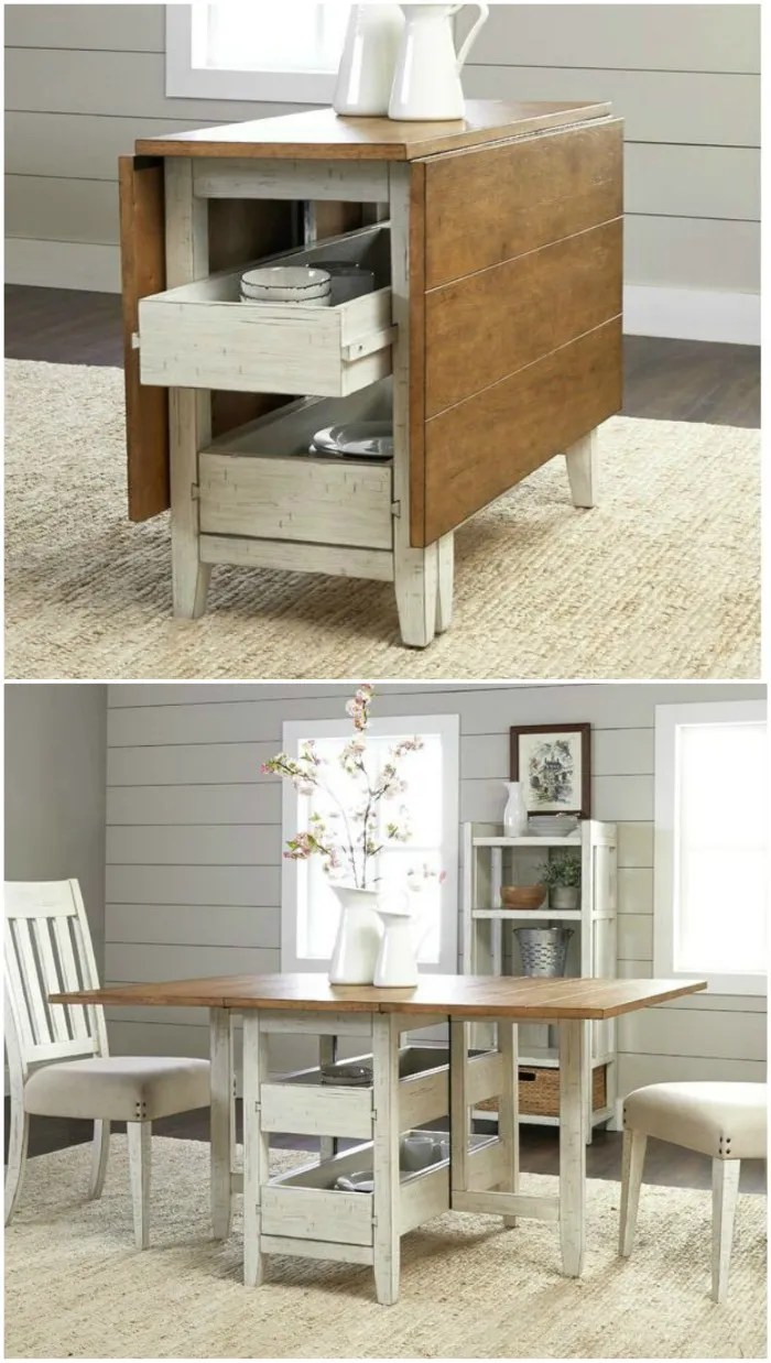 Dining Tables For Small Spaces With Storage Novocom Top