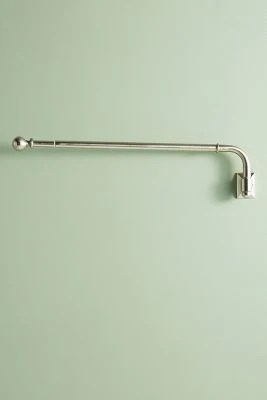 clarence swing arm curtain rod