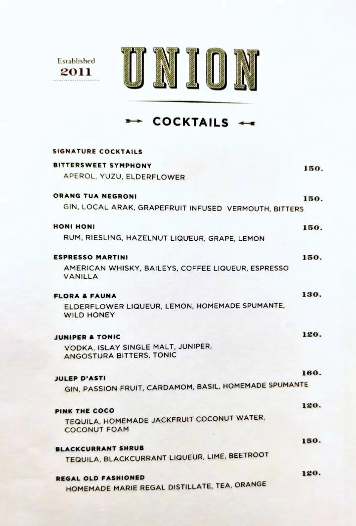 The classic 202 kitchen cocktail menu will be a feature too, with a choice of classics, originals and frozen tipples to choose from. Union Central Park Central Park Mall Jakarta Barat Traveloka Eats