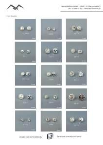 Guziki kryształowe i rondelki