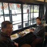 """むかし鳥の焼きあがりをお待ち頂いている、TCNの番組""""西多摩マルかじり""""をご覧になってお越し頂いたご夫婦です炭炉の周りに別のお客様たちがいらしたのでカウンターに座って頂きましたが、樽椅子に興味を示されて、店主の説明を熱心に聞いて下さいましたご来店ありがとうございました #蔵 #筏 #ikada #japan #Tokyo #mitake #御岳 #御岳山#mitakesan #御岳山ロックガーデン #武蔵御嶽神社 #多摩川 #御岳渓谷 #奥多摩 #ブドウ山椒 #おにぎり #tasty #バイク #ロードバイク #カヌー #カヤック #リバーSUP #デッドエンド #ジムニー #ペット可 #西多摩マルかじり"""