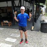 """小作駅近くにある、人気のお店""""ライオン餃子""""の星田さん  @m.hoshida21 がお越し下さいました🤗何と!奥多摩駅→奥多摩湖→炭鳥 筏と、ランニングでご来店です更に、当店から小作(おざく)のおうちまでもランニングだそうです️ さすが元競輪選手🚴&ウルトラマラソンランナーですね脚の筋肉がすごかったですご来店ありがとうございました http://ikadamitake.com#炭鳥 #蔵 #筏 #ikada #Tokyo #mitake #御岳 #御岳山 #mitakesan #御岳山ロックガーデン #武蔵御嶽神社 #多摩川 #御岳渓谷 #奥多摩フィッシングセンター #奥多摩 #ブドウ山椒 #おにぎり #味玉 #tasty #バイク #ロードバイク #カヌー #カヤック #リバーSUP #デッドエンド #ジムニー #ペット可 #ライオン餃子"""