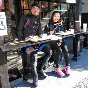 青梅市内からお越しの、ロードバイク仲間の2名様です#奥多摩湖ライド に行かれる途中でお昼ごはんにお立ち寄り下さいました🥚今日は #秋晴れ で、ロードバイクで走るのに最適ですね🚴🚴ご来店ありがとうございました🏞️http://ikadamitake.com営業時間・4月〜12月 11〜17時1月〜3月 11〜16時金曜定休(祭日は営業)Tel.0428-85-8726#むかし鳥 #体験型 #炭鳥ikada #ばくだん #mitake #御岳 #御嶽駅 #御岳山 #御岳山ロックガーデン #武蔵御嶽神社 #御岳渓谷 #御岳ランチ #奥多摩フィッシングセンター #奥多摩 #奥多摩湖 #バイク #ロードバイク #サイクリング #カヌー #カヤック #ラフティング #riversup #御岳ボルダー #ペット可 #trek #specialized #奥多摩ライド