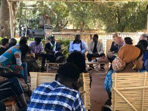 Master Class en Arts visuels, animé par le sculpteur Ky Siriki  du Burkina Faso.