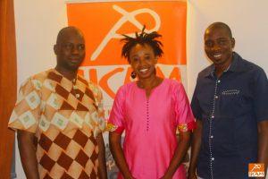 Les échanges d'évaluation de fin de programme Mama Koné et Fatoumata Tioye