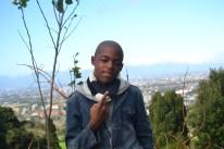 "Sandisile (16) Kwamfundo High School ""Sandisile enjoys taking part in sport especially soccer, he loves making people laugh and dislikes judgemental people """