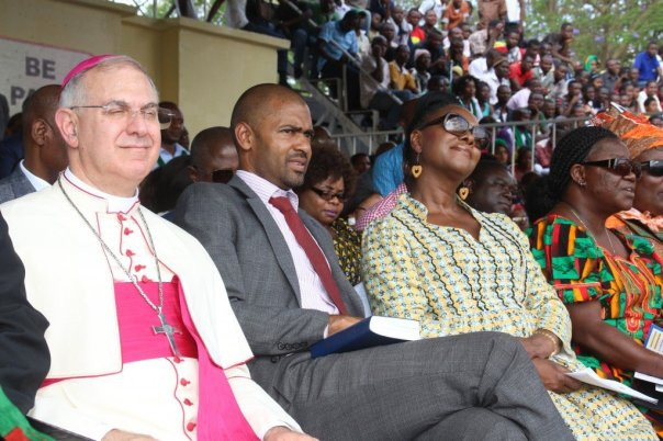 Apostolic Nuncio to Zambia Julio Murat.