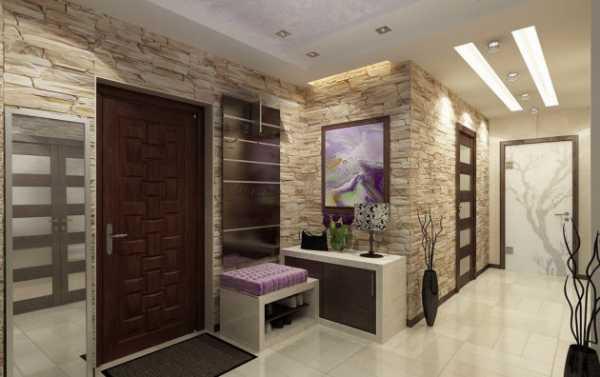 Искусственный камень в коридоре – Отделка прихожей ...