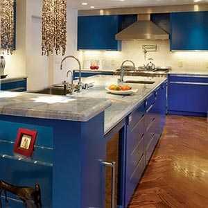 Кухня в голубом цвете дизайн фото – Голубая кухня - 100 ...