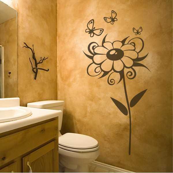 Рисунок декор – Трафареты для стен своими руками (50 фото ...