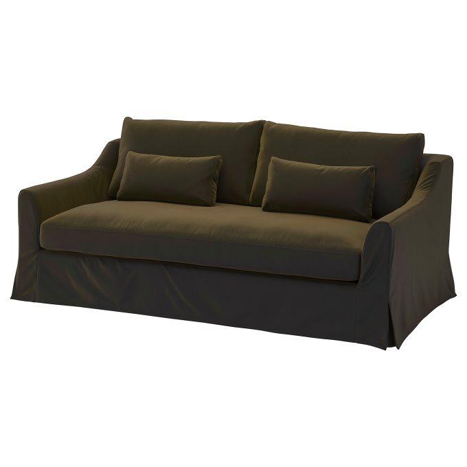 #sofa #ikea #farlov #slipcover #furniture #livingroom. FARLOV cover for 3-seat sofa   IKEA Cyprus