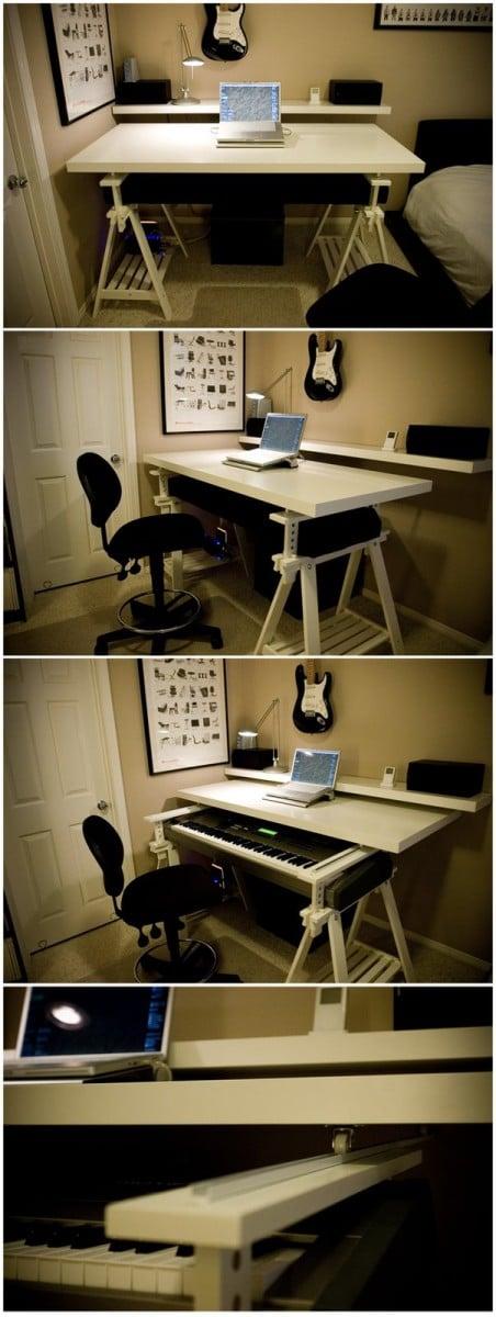 Milk desk inspired Minimalistic Workstation DIY