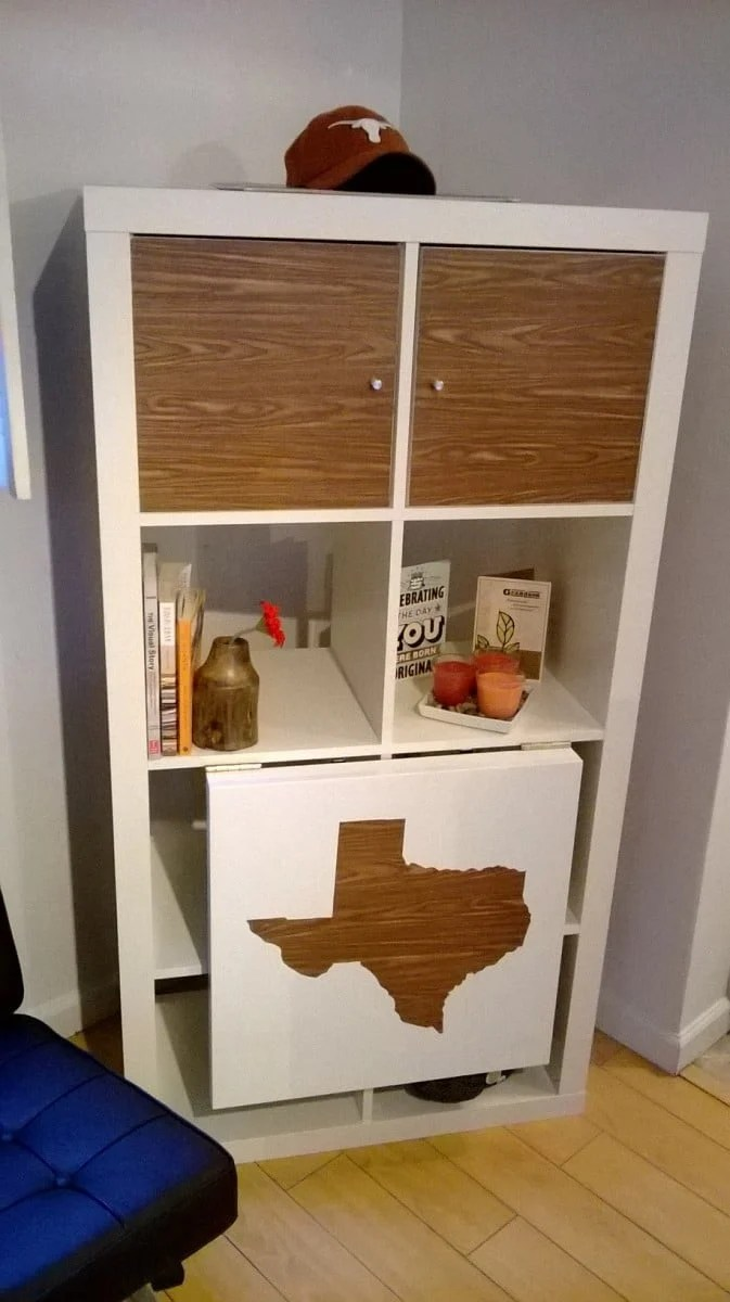 Expedit drop leaf table texas style ikea hackers - Estanteria expedit ikea ...