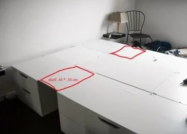 space saver bed ikea hackers. Black Bedroom Furniture Sets. Home Design Ideas