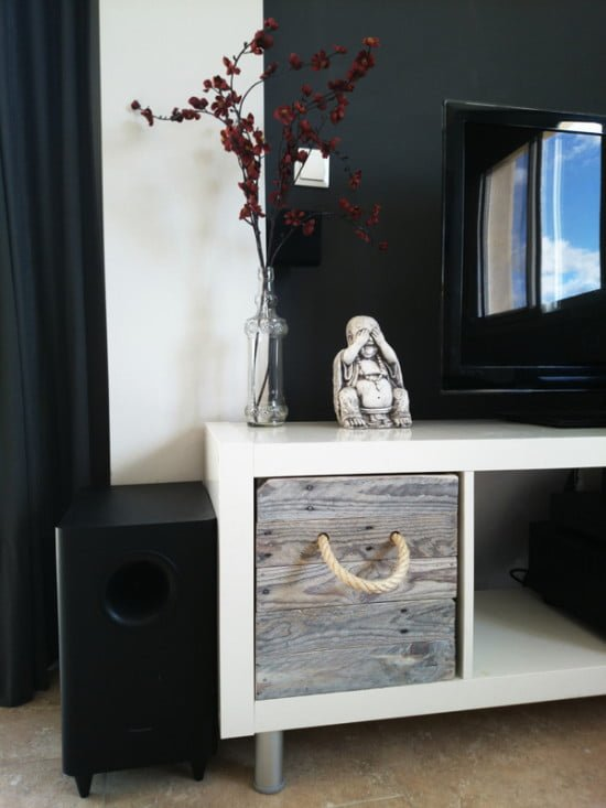 ikea expedit tv stand with pallet boxes ikea hackers. Black Bedroom Furniture Sets. Home Design Ideas
