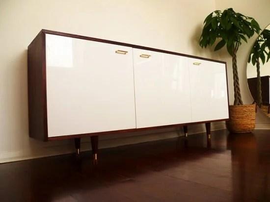 mid century style credenza ikea hackers. Black Bedroom Furniture Sets. Home Design Ideas