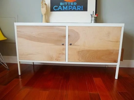 From Ikea Ps Locker Cabinet To Upscale Mid Century
