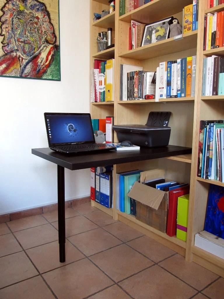 Billy Bookcase Desk: Minimal Billy Desk