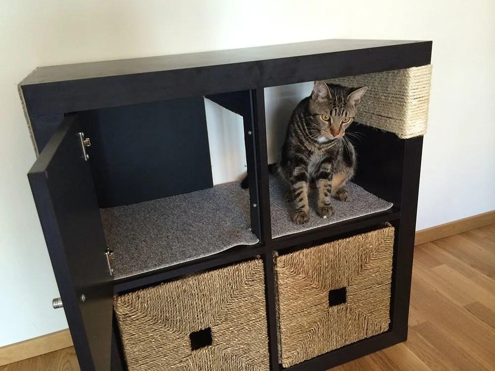 Kallax Cat Scratching Furniture Ikea Hackers