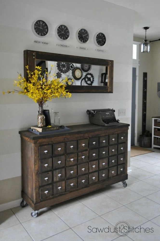 Expedit Into Card Catalog Apothecary Cabinet