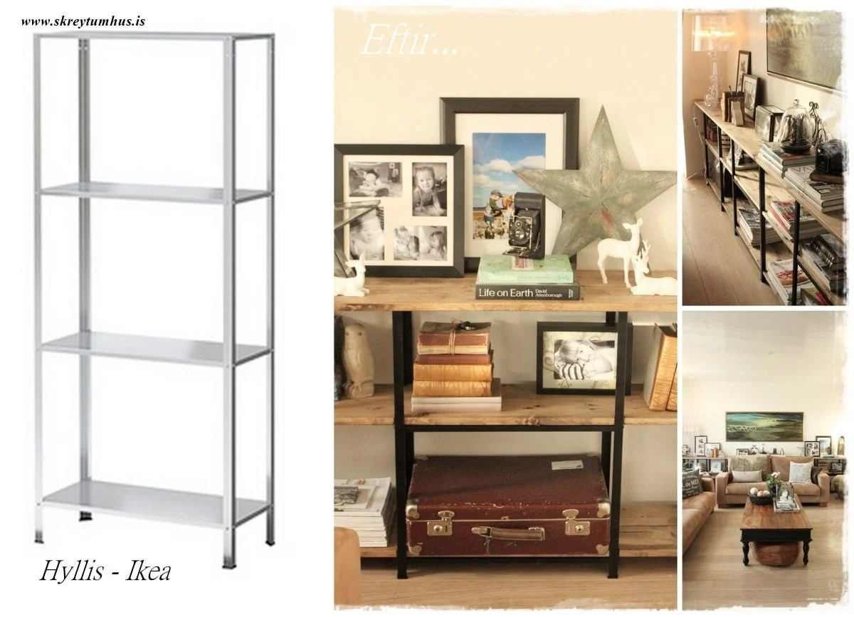 hyllis all the way for industrial looking shelves. Black Bedroom Furniture Sets. Home Design Ideas