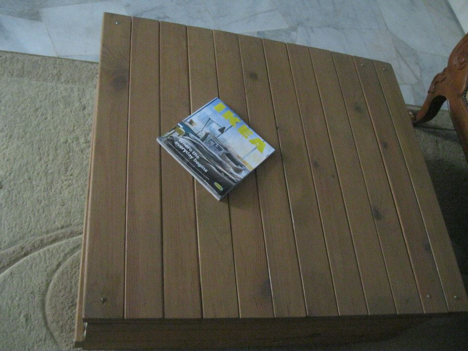 From Bed Slats To Coffee Table To Bookcase Ikea Hackers