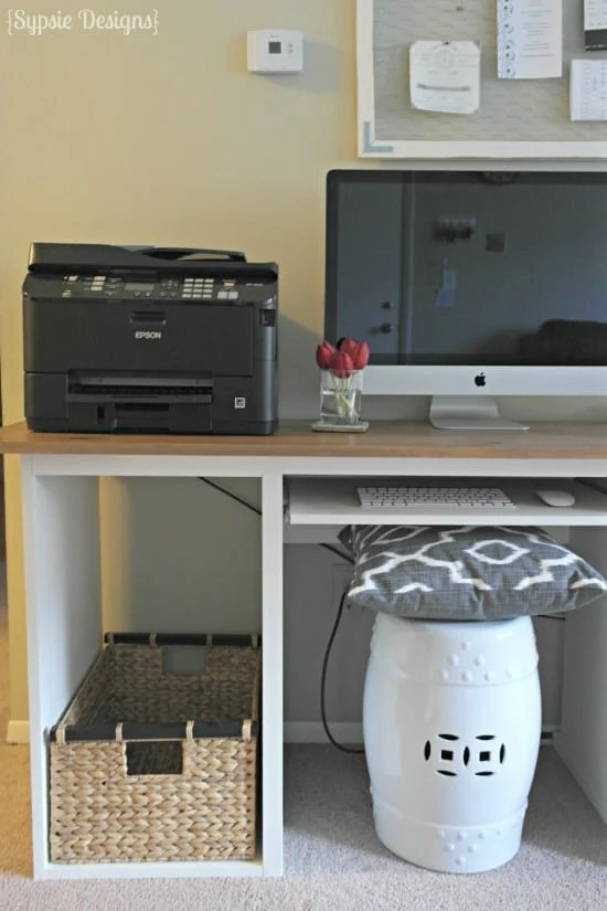 IKEA Hack to Rustic Desk - Sypsie Designs