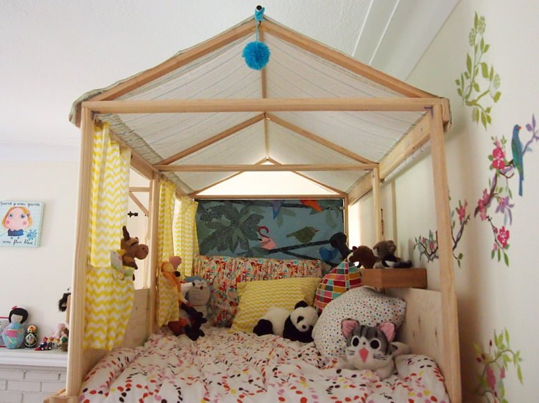 from bunk bed to playhouse ikea hackers. Black Bedroom Furniture Sets. Home Design Ideas