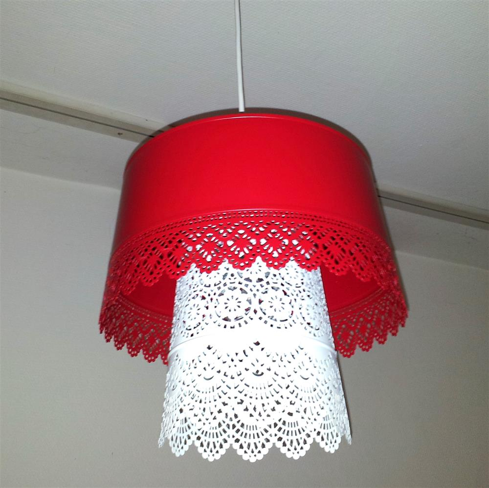 Double skurar lampshade ikea hackers light but we have it in the bedroom so that is quite alright you could use only one the bowl or the lantern but i feel the combination makes it much arubaitofo Images