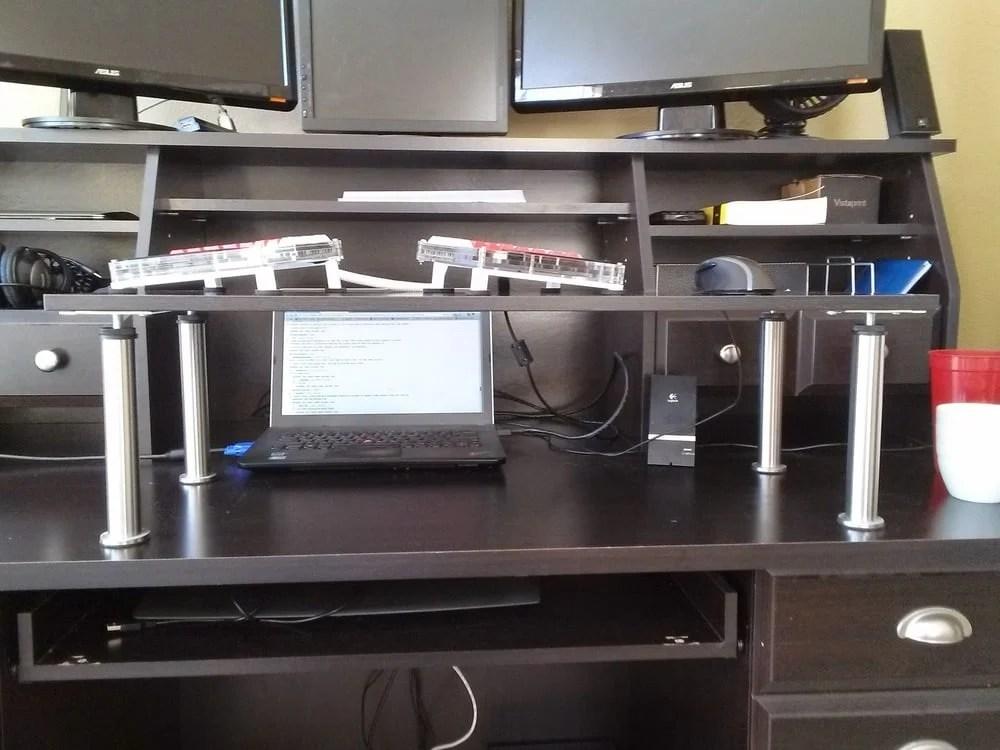 Standing Desk Keyboard Riser Shelf Ikea Hackers
