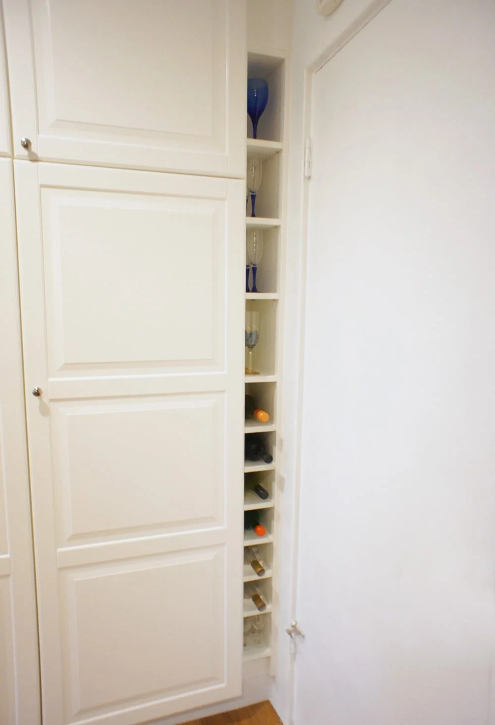 ikea billy bookcase to slim wine rack ikea hackers. Black Bedroom Furniture Sets. Home Design Ideas