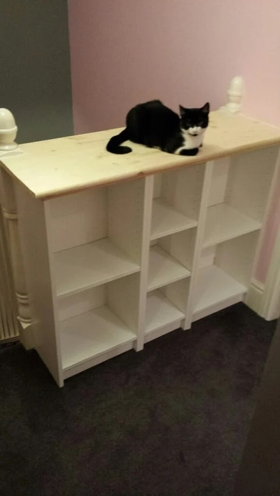 Billy Bookcase For Stairs Landing Ikea Hackers