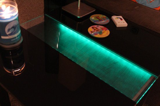 An illuminated side table: A LACK and DIODER hack
