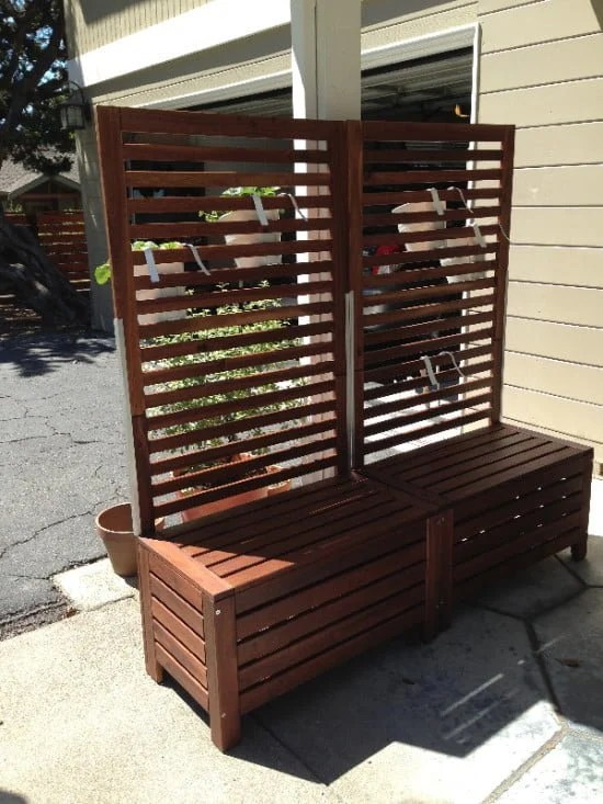 Applaro free-standing bench and trellis hack