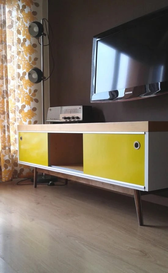 ikea lack tv stand vintage style