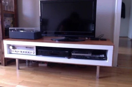 IKEA LACK TV unit with wood